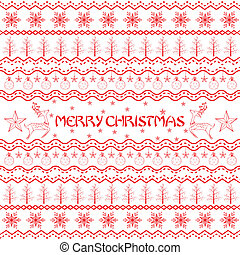 Christmas Decoration Boarder - easy to edit vector...