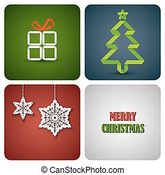 Christmas decoration card on white paper