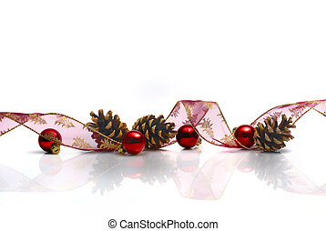 christmas decoration - Christmas decoration with ribbon,...