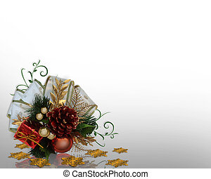 Christmas Decoration corner design - Image and illustration...