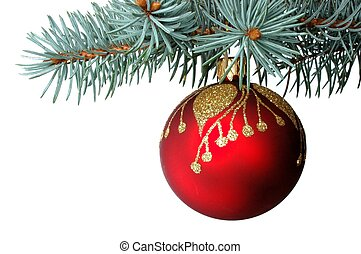 Christmas decoration - Cristmas decoration on white...