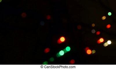 Christmas decoration defocused background