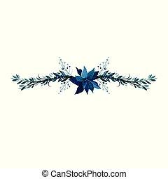 Christmas decoration divider nerrow vector