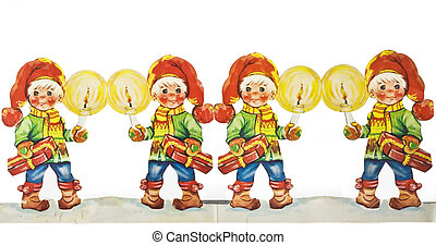 Christmas Decoration - A Christmas Decoration of 4 gnomes...