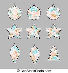 Christmas decoration elements