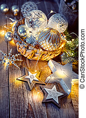 Christmas decoration for tree New year greeting