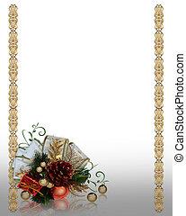 Christmas decoration gold border