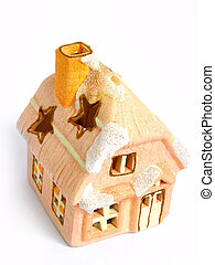 Christmas Decoration House, candle,
