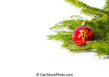 Christmas decoration isolated on the white background.