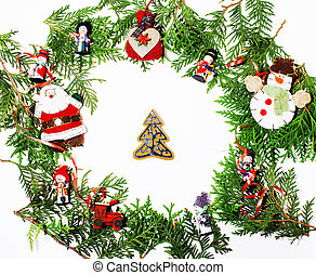 christmas decoration isolated , white background for post card g
