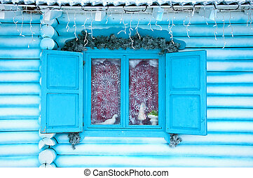 Christmas decoration of a house
