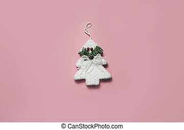 christmas decoration on a pink background
