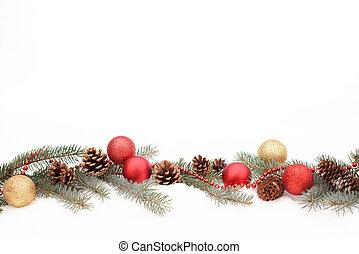 Christmas decoration on a snow