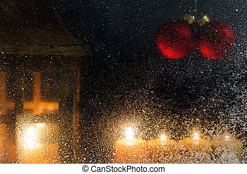 christmas decoration on a window 16 - romantic christmas...