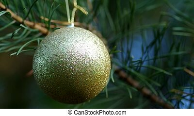 Christmas decoration on coniferous - Christmas time,...