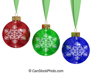 Christmas decoration on white background. 3D image.
