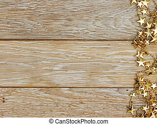 Christmas decoration on wood texture. background old panels