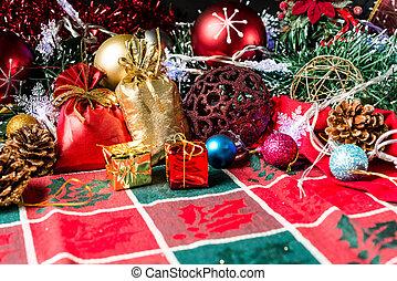 christmas decoration over dark background