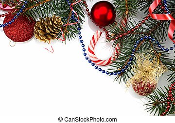 Christmas Decoration Over white