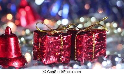 christmas decoration panning close-up