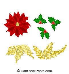 Christmas decoration poinsettia