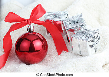 Christmas decoration prepare for pass to new year