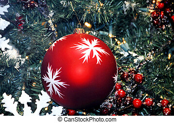Christmas Decoration Red Textured Baubles