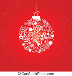 Christmas decoration red white