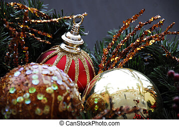 Christmas Decoration Redand Silver Baubles
