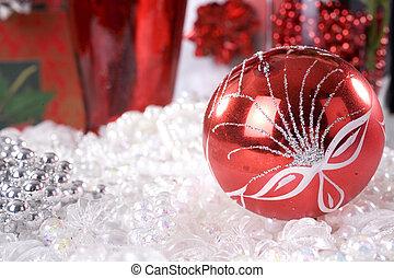 christmas decoration setup