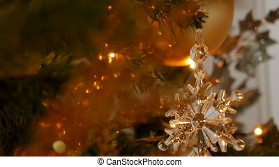 Christmas decoration snowflake and composition on a...