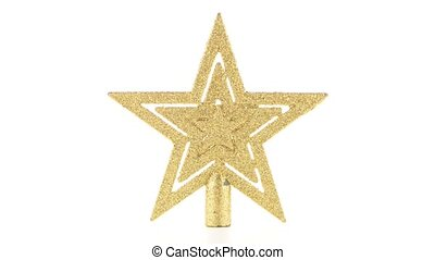 Christmas decoration star to decorate a Christmas tree.