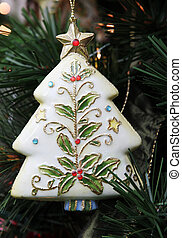 Christmas decoration - Christmas tree decoration on a tree