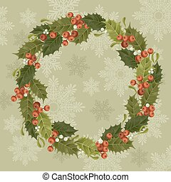 Christmas decoration - Christmas vintage background with...