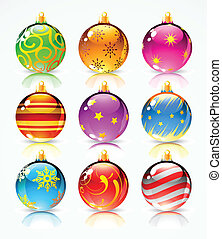 christmas decoration - Vector illustration of Different...