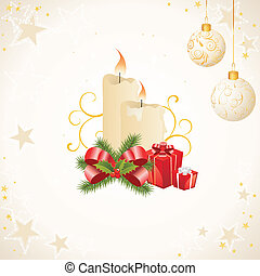 Christmas decoration - vector illustration of christmas ...
