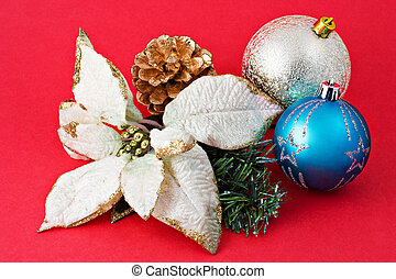 christmas decoration with blank gift 1