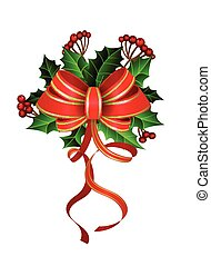 Christmas decoration with bow