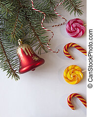 Christmas decoration with candy canes