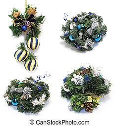 Christmas decoration with christmas balls