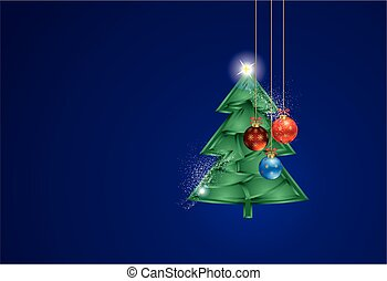 Christmas decoration with Christmas tree