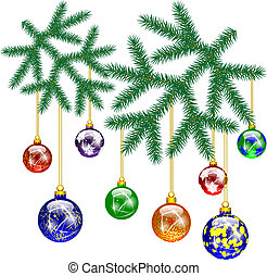 Christmas decoration with Christmas tree