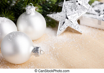 Christmas decoration with festive ball