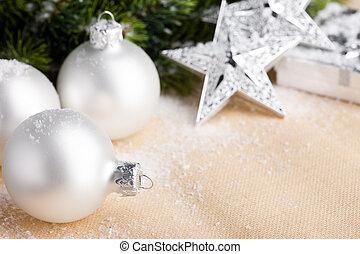 Christmas decoration with festive ball