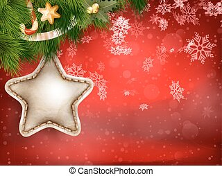 Christmas decoration with fir branches. EPS 10 - Christmas...