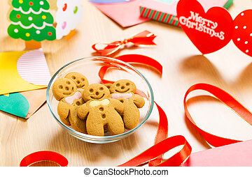 Christmas decoration with gingerbread cookie