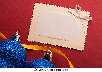 Christmas decoration with greeting card