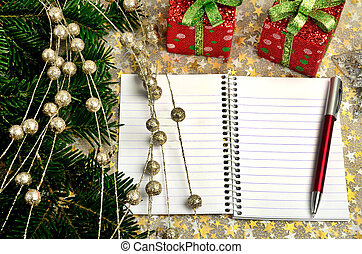 Christmas decoration with notepad