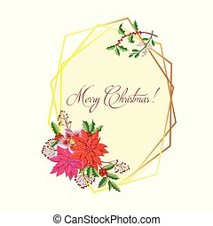 Christmas Decoration with Poinsettia