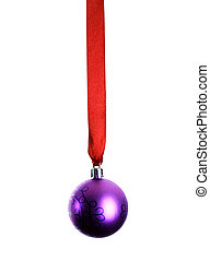 Christmas decoration with ribbon and bauble
